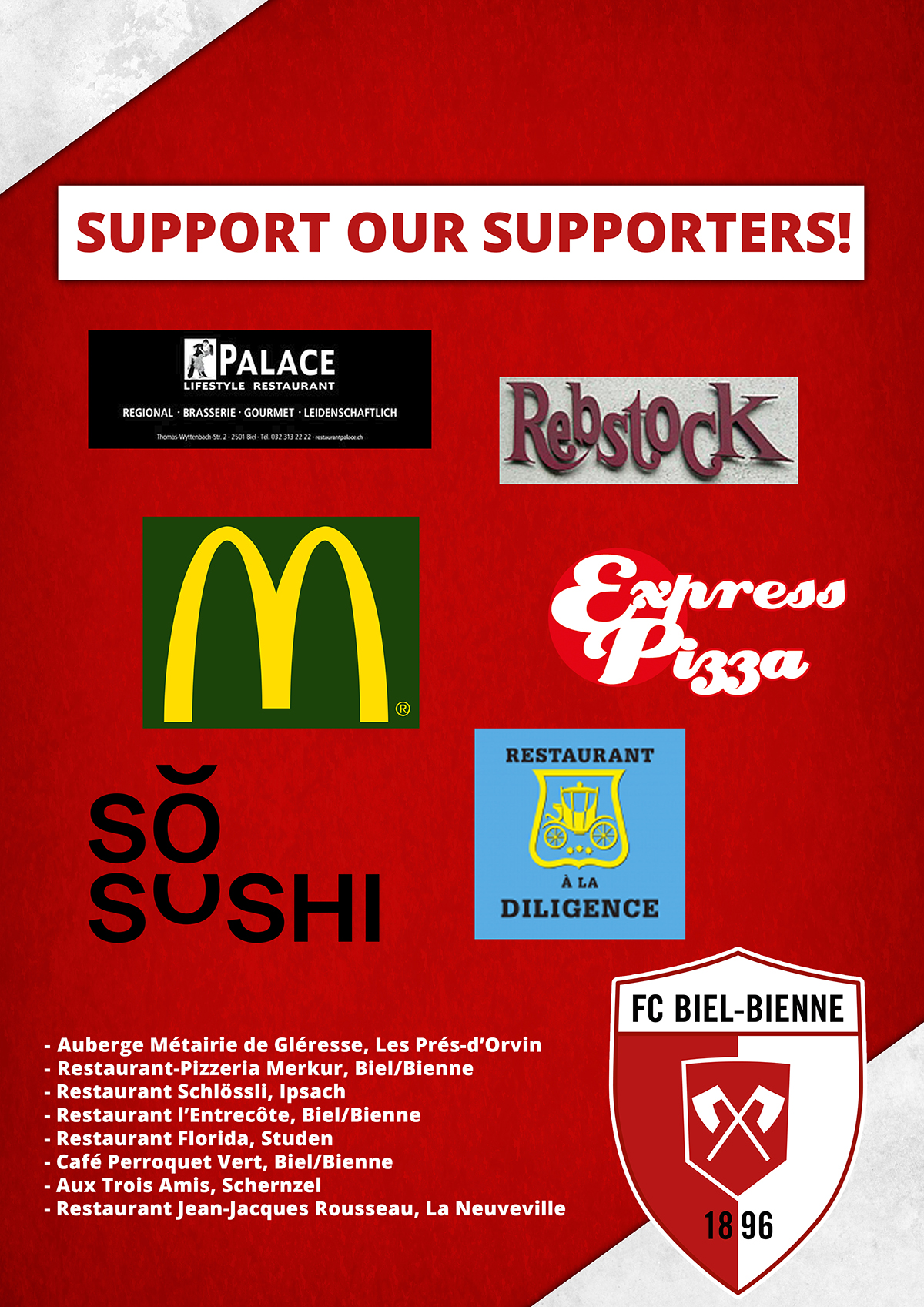 Support our Supporters!